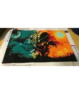 5D Diamond Painting Vivid Colors Day Night Print Art Finished Unframed - $9.49