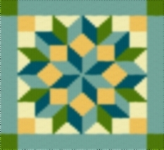 Latch Hook Rug Pattern Chart: Star Bright Pt - EMAIL2u - $5.50