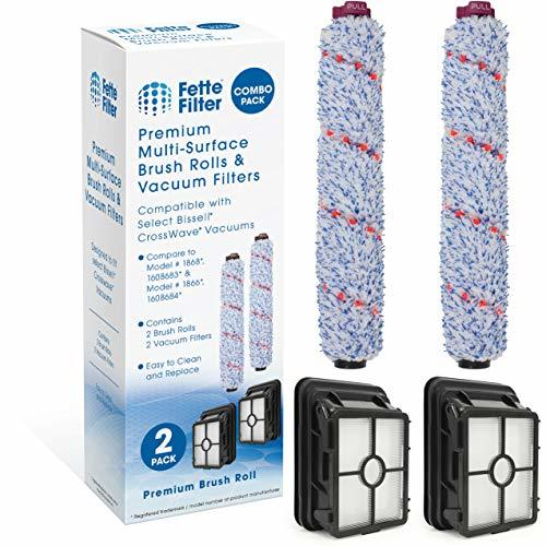 Fette Filter - Brush Roll Compatible with Bissell 1868 and 1866 Vacuum Filter. C