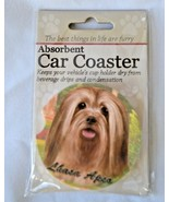 Lhasa Apso Absorbent Car Coaster Stoneware E&S Pets Dog Auto NEW - $10.88