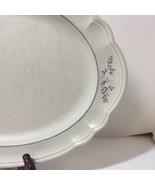 "Oval Platter Heirloom Pfaltzgraff Grey White Flowers 14.75"" - $14.50"