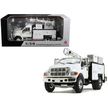 Ford F-650 with Maintainer Service Body White 1/34 Diecast Model Car by First... - $110.23