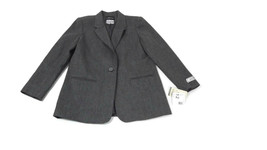 SAG HARBOR Womens GRAY Blazer Jacket Size12 Pure New WOOL Lined $70 Vintage - $26.60