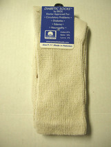 Diabetic Socks, Crew, Ladies, Size 9-11, Tan By Eros Socks, Brand new - $5.59