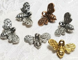 BUMBLE BEE FINE PEWTER PENDANT CHARM