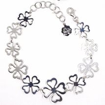 925 Silver Bracelet, Four-Leaf Clover Good Luck Charm, by Mary Jane Ielpo , image 3