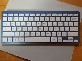 Actto Korean English Bluetooth Slim Keyboard Wireless Compact Tenkeyless (Blue) image 5