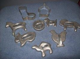 Vintage Set Aluminum Cookie Cutters - $12.00