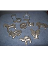 Vintage Set Aluminum Cookie Cutters - $12.00