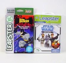 2 Leapster Star Wars Jedi Math Batman Multiply ... - $14.99