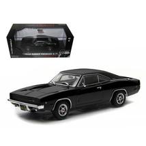 1968 Dodge Charger Black R/T Steve McQueen Bullitt Movie (1968) 1/43 Die... - $28.71
