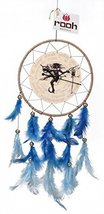 Shiva Neelkanth Dream Catcher Clock Wall Hanging Handmade Feathers Decoration - $40.18