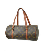 Louis Vuitton Brown Monogram Leather Medium Cylinder Satchel Bag Purse 7... - $225.72