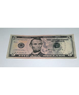 2013 Cinque $ Bill Stati Uniti Banca Banconota Compleanno Periodo Febbra... - $24.81