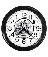 A Mad Tea Party Alice's Adwventures Backwards Wall Clock (Black) Gift 35... - $18.18