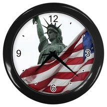 American Flag Decorative Wall Clock (Black) Gift model 16468674 - $18.18