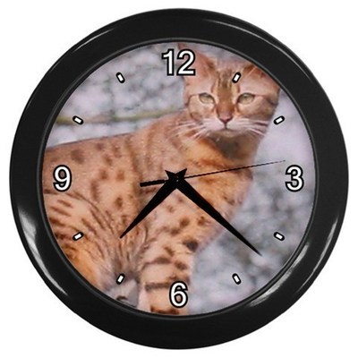 Primary image for Bob Cat Decorative Wall Clock (Black) Gift model 14548200