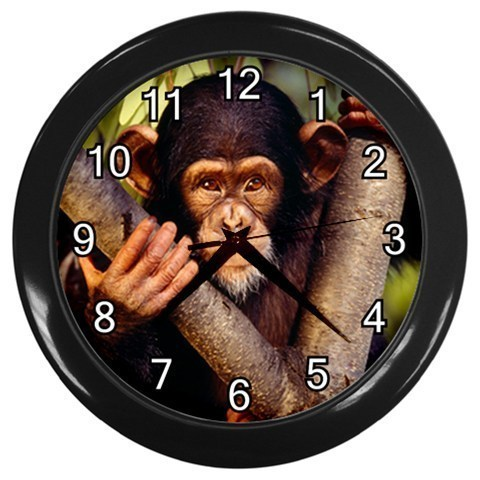 Chimpanzee in Tree Decorative Wall Clock (Black) Gift model 17845694