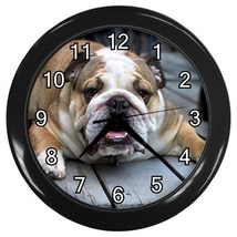 English Bulldog Decorative Wall Clock (Black) Gift model 35699917 - $18.18