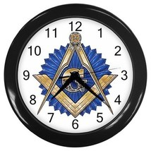 Freemason Mason Masonic Decorative Wall Clock (Black) Gift model 32046702 - $18.18