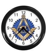Freemason Mason Masonic Decorative Wall Clock (Black) Gift model 32046702 - $18.18
