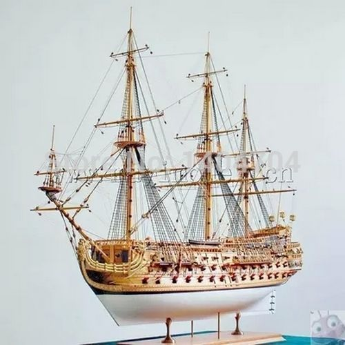 1/50 Luxury classic sail boat Wooden model kits San Felipe warship model