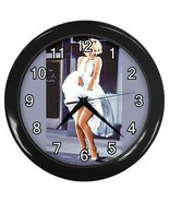 Marilyn Monroe Seven Year Itch Decorative Wall Clock (Black) Gift model ... - $18.18
