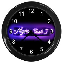 Nightclub Sign Neon Design Decorative Wall Clock (Black) Gift model 35347922 - $18.18