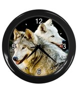 Twin Wolves Decorative Wall Clock (Black) Gift model 14516430 - $18.18