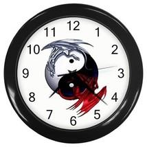 Yin Yang  Black White Dragon Decorative Wall Clock (Black) Gift model 35699925 - $18.18