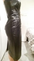 Michael Kors, strapless, sculptured leather dress, knee length, size 4 - $236.83