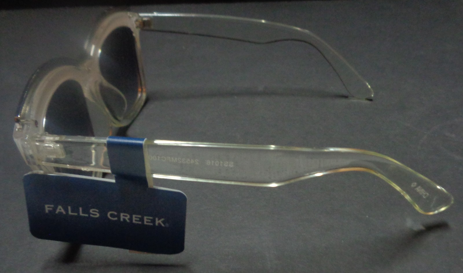 Falls Creek White Clear Sunglasses NWT 100% UV Protection image 8