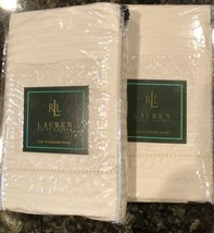 2 New Ralph Lauren 52nd Street Jacquard Cream Standard Shams Orig 220.00 - $36.45