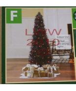 Black Christmas Gothic Vermont Pine Tree 3.5 feet red lights - $34.99