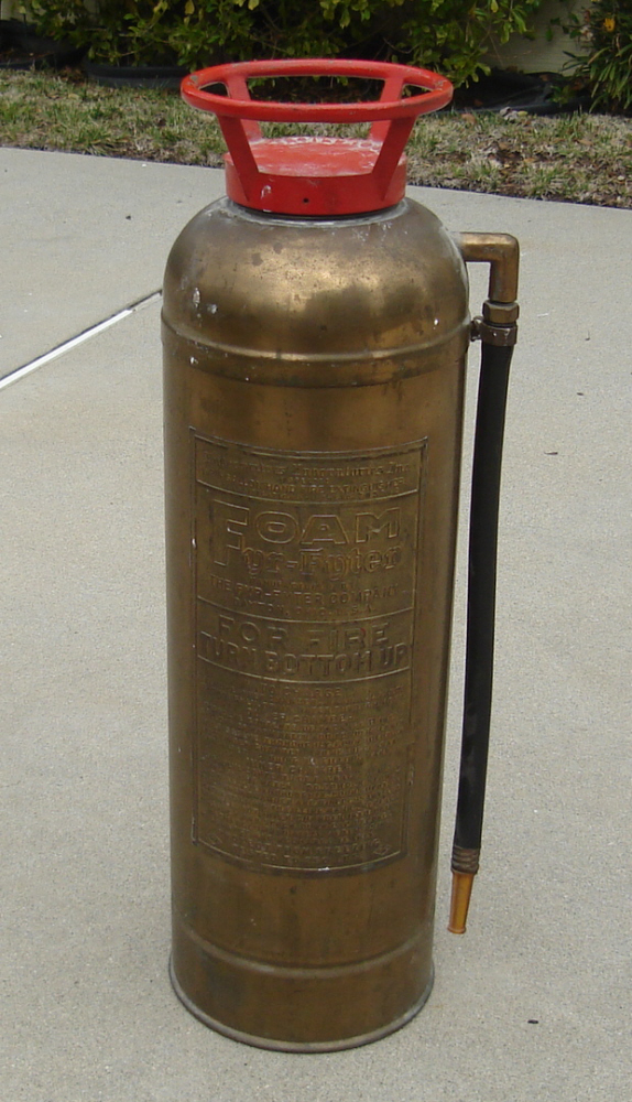 Vintage Brass Foam 2 1 2 Gallon Fyr Fyter Fire