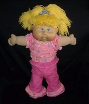 """17"""" 2005 Cabbage Patch Kids Baby Doll Blonde Hair Girl Stuffed Animal Plush Toy - $24.31"""