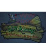 Witch Zone leave brooms at the door Metal Halloween Sign - $3.99
