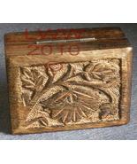 Flower designed Wood Carved Jewelry Trinket Box - $4.99
