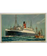 Old Postcard Cunard White Star Line Steamship Ship Steamer RMS Aurania U... - $19.55