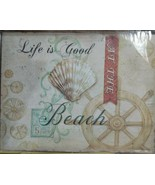 "Life Is Good At The Beach Metal Sign New in Plastic 10"" x 13"" - $18.80"