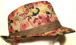 A&O International Red Tan Floral Multicolor Band Adult Unisex Fedora One... - $22.76