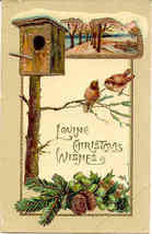 Loving Christmas Wishes, 1910 Paul Finkenrath of Berlin Post Card - $3.00