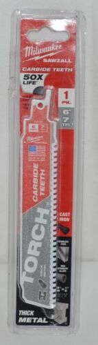 Milwaukee 48005201 Sawzall Blade Carbide Teeth Nail Thick Metal
