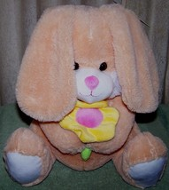 "Animal Adventure Light Orange Bunny holding flower 12H"" Plush New - $8.88"