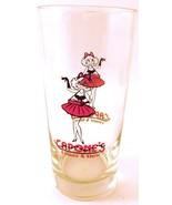 Capone's Dinner & Show Theater Souvenir Tall Glass Cigarette Girl - $4.15
