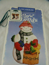 Cookie Mold Snowman Friends Chilly by Longaberger Pottery New + 1998 ornament - $14.84