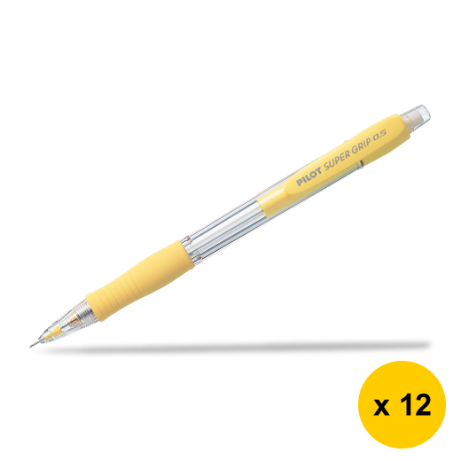Primary image for Pilot Super Grip H-185 0.5mm Mechanical Pencil (12pcs), Yellow, H-185-SL-Y