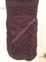 NWT Halston Heritage Ruched Jersey Mini Bodycon Dress Purple Aubergine XS 0 2 image 8