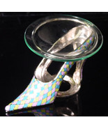 Yellow/Pink/Blue Pewter High Heel  Tea Light - $21.50