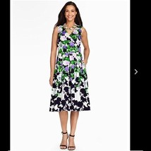 NWT Talbots Woman OPRAH COLLECTION Foral Fit & Flare Dres size 4P - $59.35